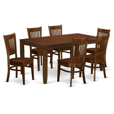 East West Furniture Lynfield 7 Piece Dini..