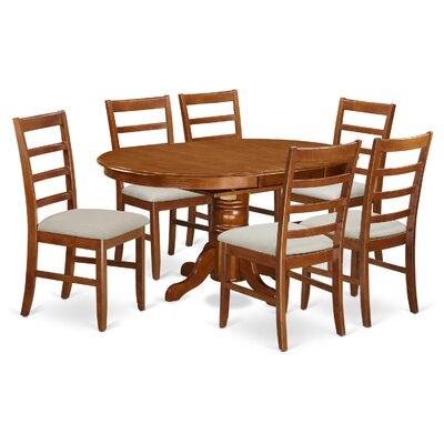 East West Furniture Avon 7 Piece Dining Set