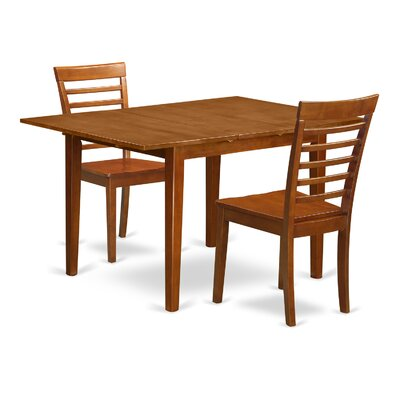 East West Furniture Milan 3 Piece Dining Set