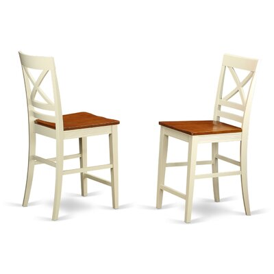 East West Furniture Quincy Bar Stool (Set of 2)