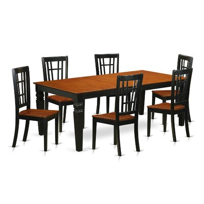 East West Furniture Logan 7 Piece Dining Set