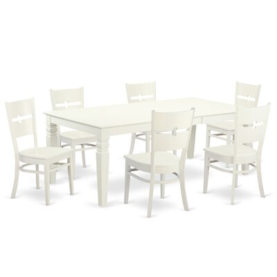 East West Furniture Logan 7 Piece Dining Set