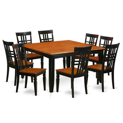 East West Furniture 9 Piece Dining Set