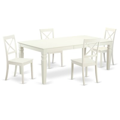 East West Furniture Logan 5 Piece Dining Set