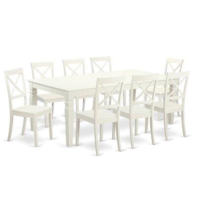 East West Furniture Logan 9 Piece Dining Set