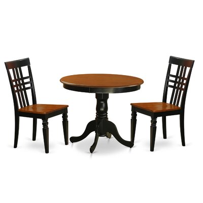 East West Furniture 3 Piece Dining Set