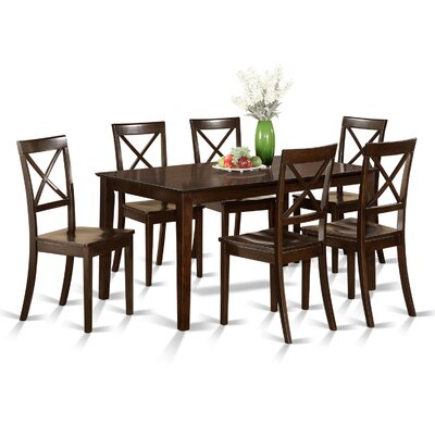 East West Furniture Capri 7 Piece Dining Set