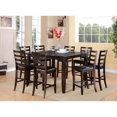 East West Furniture Fairwinds 5 Piece Counter Height Dining Set