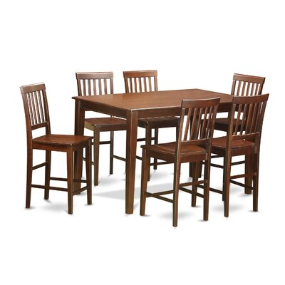 Wooden Importers 7 Piece Counter Height Dining Set