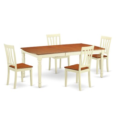 Wooden Importers Dover 5 Piece Dining ..
