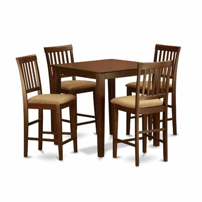 Wooden Importers 5 Piece Counter Height Pub Table Set
