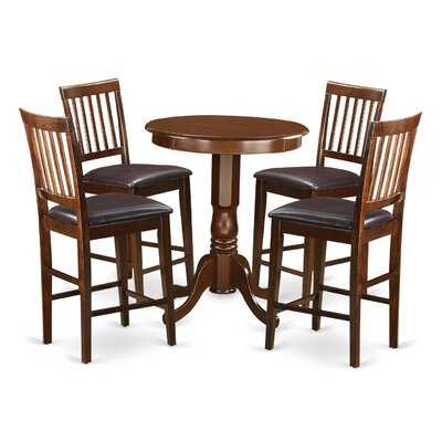 Wooden Importers Eden 5 Piece Counter Height Pub Table Set