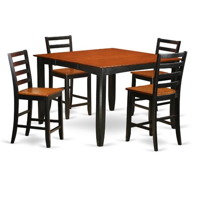 Wooden Importers Parfait 5 Piece Counter Height Dining Set
