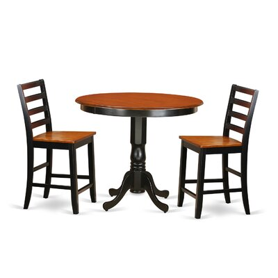 Wooden Importers Trenton 3 Piece Counter Height Pub Table Set