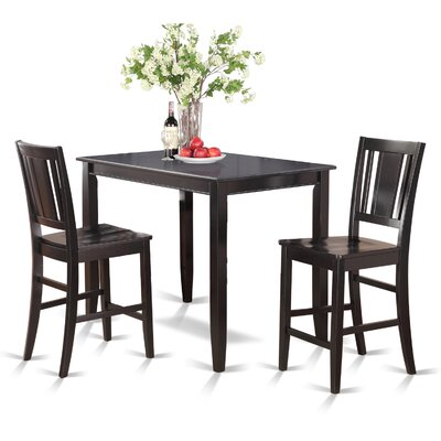Wooden Importers Buckland 3 Piece Counter Height Dining Set