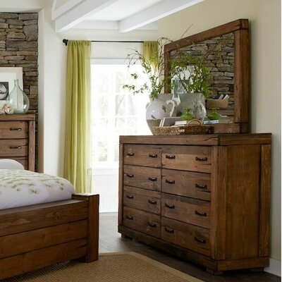 Loon Peak 8 Drawer Dresser with Mirror