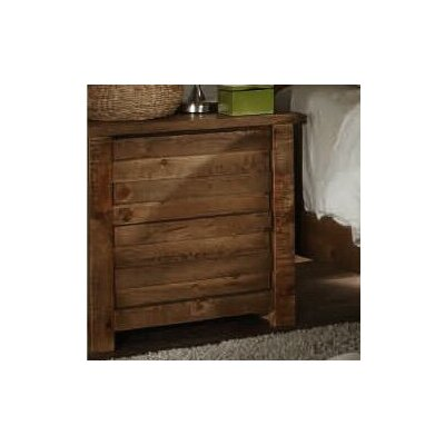 Loon Peak Bear Springs 2 Drawer Nightstand