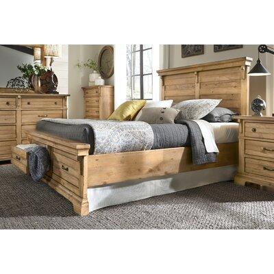 Progressive Furniture Chestnut Hill Panel With Storage Customizable Bedroom Set