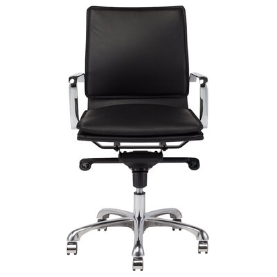 Nuevo Carlo High-Back Leather Conference Chair with Arms