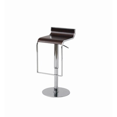 Nuevo Nero Adjustable Height Swivel Bar Stool