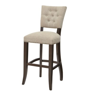 INK+IVY Brooklyn Barstool with Cushion Image