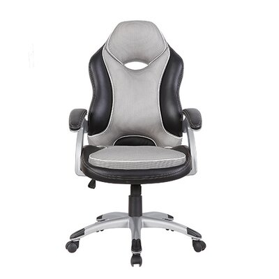 Techni Mobili Series Two Tone High-Back Racer Executive Chair