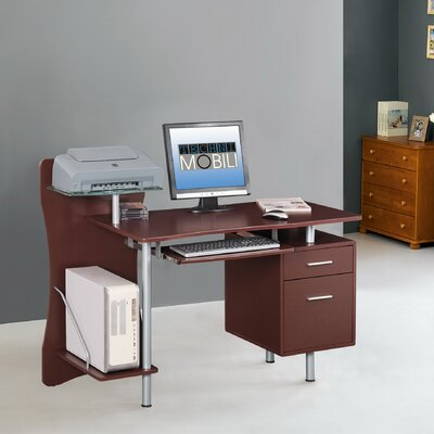Techni Mobili Computer Desk with Stora..