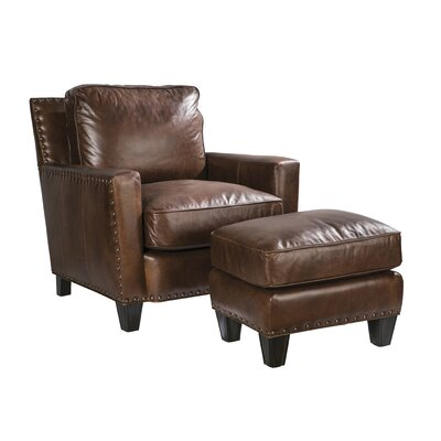 Palatial Furniture Alvarado Leather Ottoman