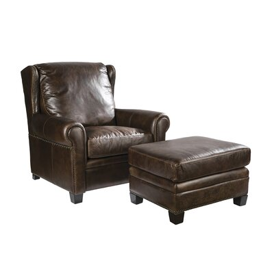 Palatial Furniture Sawyer Leather Ottoman