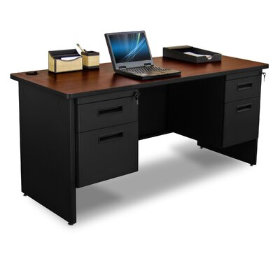 Marvel Office Furniture Pronto Double Pedestal Executive Desk with Box / File