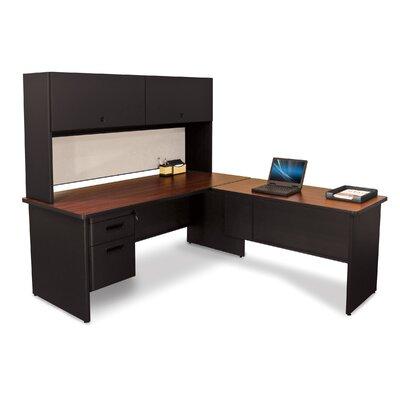 Marvel Office Furniture Pronto L-Shape Executive Desk and Lock