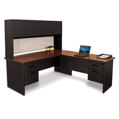 Marvel Office Furniture Pronto L-Shape Return Executive Desk with Lock and Drawers