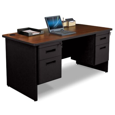 Marvel Office Furniture Pronto Box / File Executive Desk with Double Pedestal