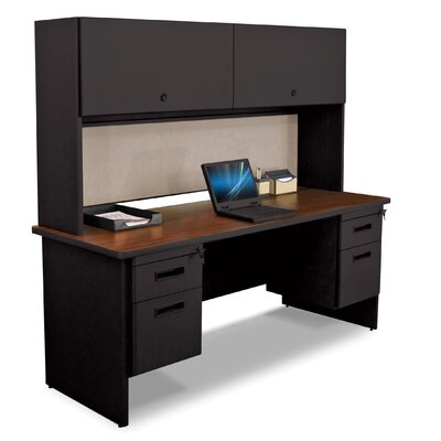 Marvel Office Furniture Pronto Executive Desk with 2 Right and 2 Left Drawers