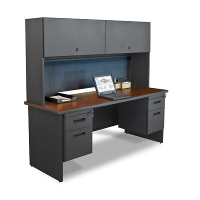 Marvel Office Furniture Pronto Executive Desk with Flipper Door Cabinet and Lock
