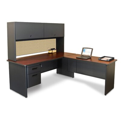 Marvel Office Furniture Pronto Return Executive Desk with Return and Drawers