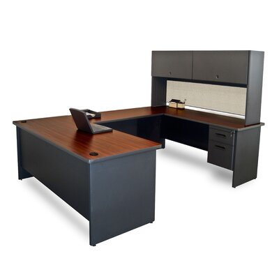 Marvel Office Furniture Pronto U-Shape Executive Desk with Door