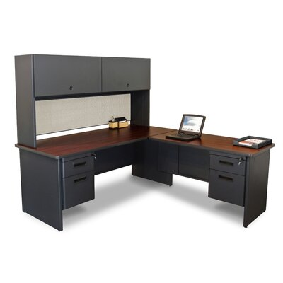 Marvel Office Furniture Pronto L-Shape Executive Desk with Return