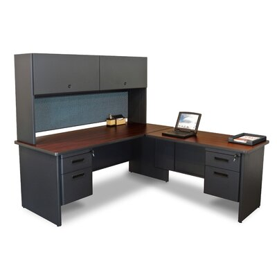 Marvel Office Furniture Pronto Return and Pedestal Executive Desk