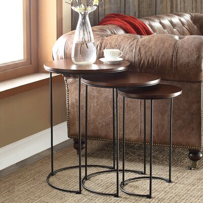August Grove Audrey 3 Piece Nesting Tables