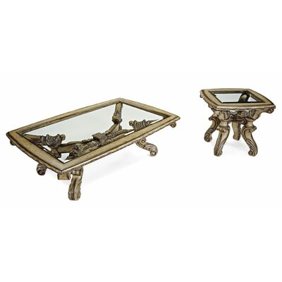 Benetti's Italia Vivacci 2 Piece Coffee Table Set