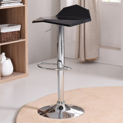 Hodedah Adjustable Height Swivel Bar Stool