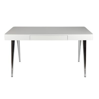 Whiteline Imports Metro Writing Desk with Chrome Leg