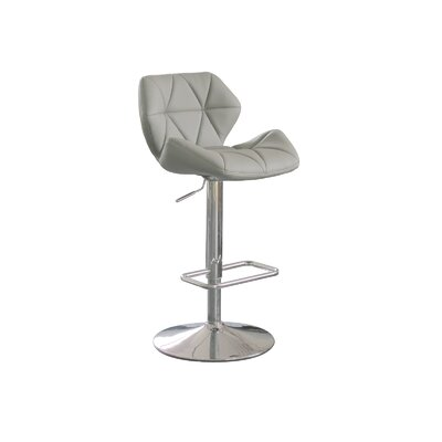 Whiteline Imports Aaron Adjustable Height Swivel Bar Stool