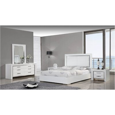 Whiteline Imports Ibiza Panel Customizable Bedroom Set