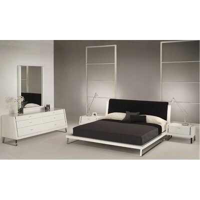 Whiteline Imports Bahamas Platform Customizable Bedroom Set
