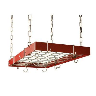 Rogar Custom Rectangle Ceiling Mount Pot Rack With Grid