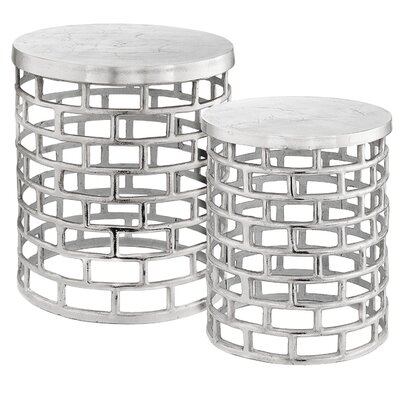 Modern Day Accents Ladrillo 2 Pieces Nesting Tables
