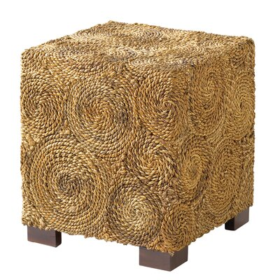 Ibolili Square Banana Leaf Circle End Table