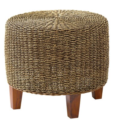 Ibolili Round Seagrass End Table